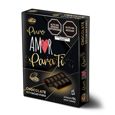 Cajita Unisex Tableta 50% Cacao 150g