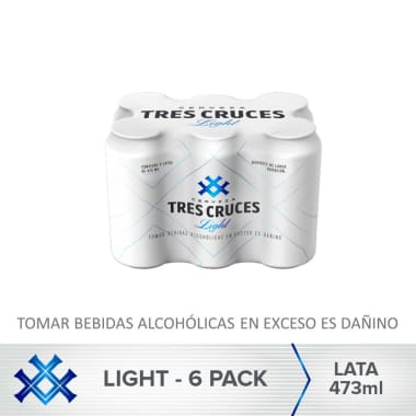 Cerveza Tres Cruces Light Lata 473 ml