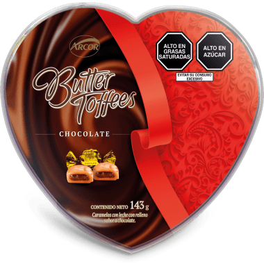 Pote Corazón Butter Toffees Chocolate