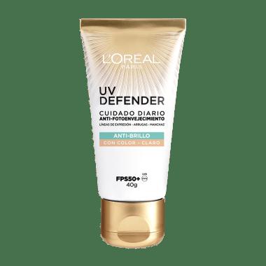Crema Facial Cuidado Diario Anti Brillo UV Defender Tono Claro L'Oréal Paris