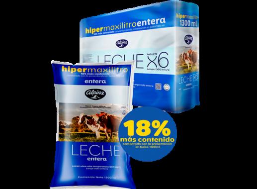 Leche Entera Pack x 6 Unds Bol 1,300ml