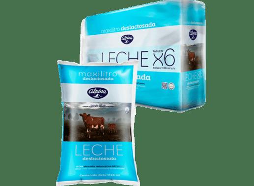 Leche Deslactosada Bolsa Paquete X 6 Unds 1,100ml