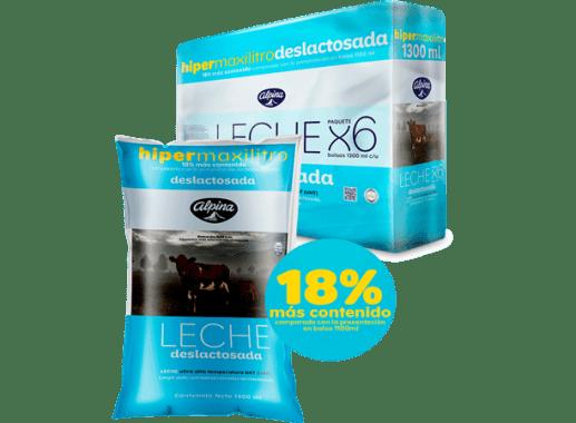 Leche Deslactosada Pack x 6 Unds Bol 1,300ml