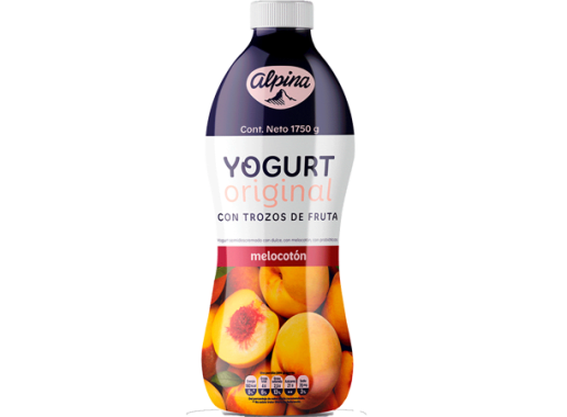 Yogurt Original Melocoton Garrafa 1,750gr