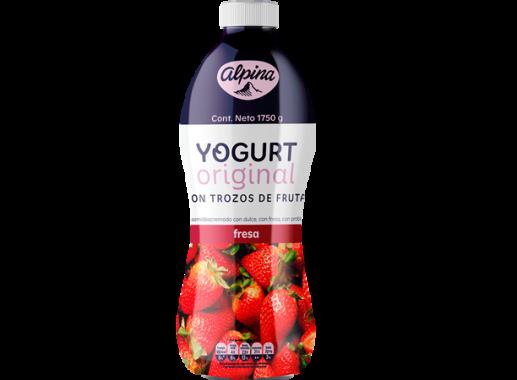 Yogurt Original Fresa Garrafa 1,750gr