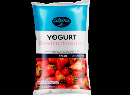 Yogurt Deslactosado  Fresa  Bolsa 900gr