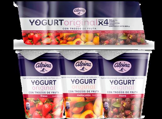 Yogurt Original Vaso Pack X 4 X 150gr