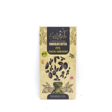 CHOCOLATE BITTER 72% CACAO CON ARANDANO 50 g CALYPSO