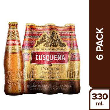 CUSQUEÑA DORADA BOTELLA 330 ML ( SIXPACK)