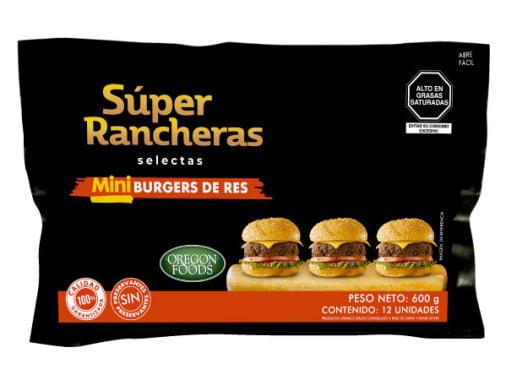 MINI HAMBURGUESAS DE RES - SUPER RANCHERAS