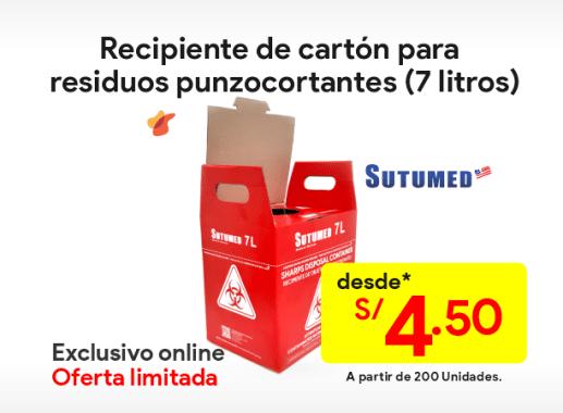 Caja de cartón para residuos hospitalarios 7 litros
