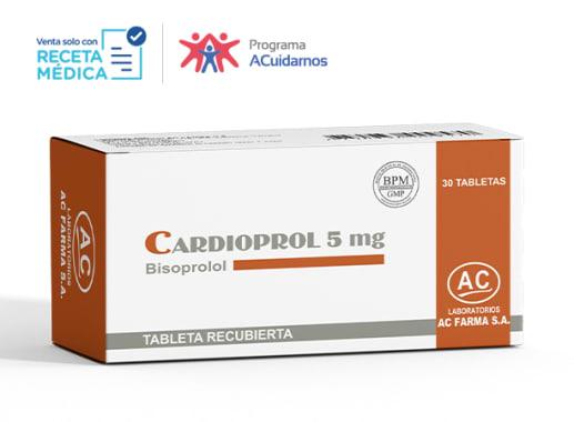 CARDIOPROL 5 mg - BISOPROLOL (Caja x 30 Tabletas)