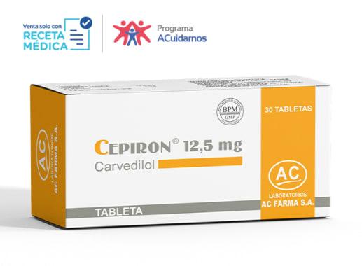 CEPIRON 12,5 mg - CARVEDILOL (Caja x 30 Tabletas)