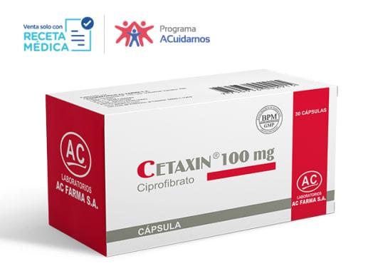 CETAXIN 100 mg - CIPROFIBRATO (Caja x 30 Cápsulas)