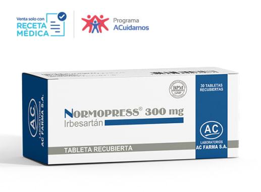 NORMOPRESS 300 mg - IRBESARTAN (Caja x 30 Tabletas)