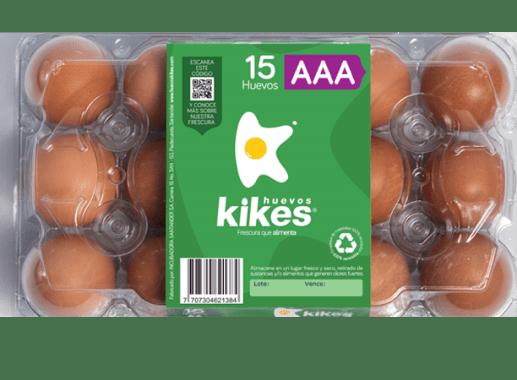 Huevos Kikes x 15 Unds AAA