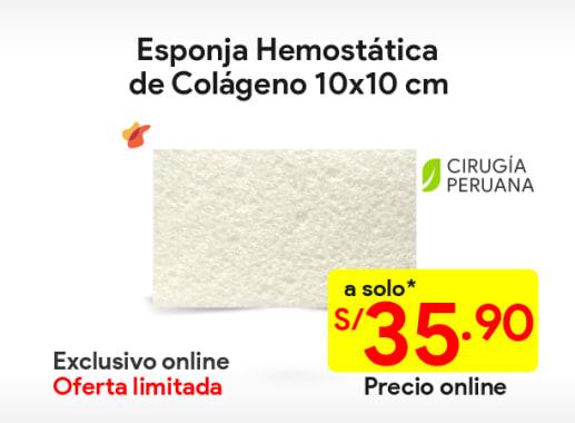 Esponja hemostática de colágeno