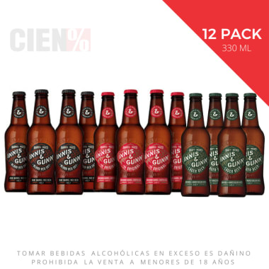 12 Pack Cervezas Innis & Gunn Mix Botellas 330 ml