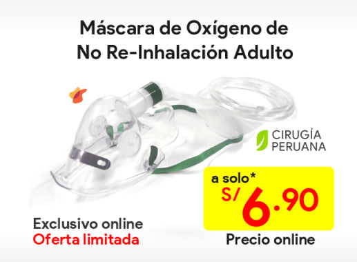 Máscaras de No Re-Inhalación Adulto