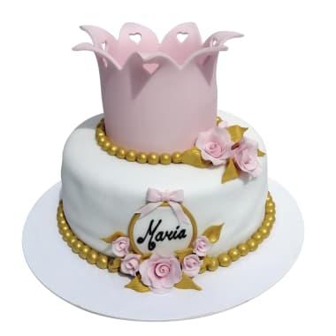 Torta Corona y Perlas (pedidos con 48h de anticipación)