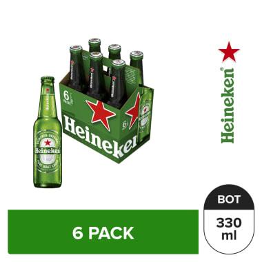 Cerveza Heineken 6 pack Botella 330 ml
