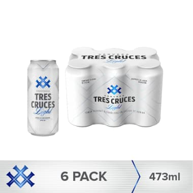 Cerveza Tres Cruces Light Lata 473 ml