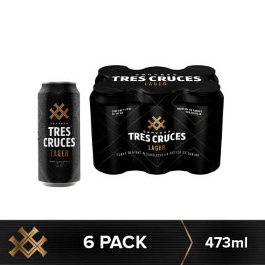 Cerveza Tres Cruces Lager Lata 473 ml