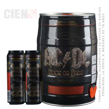 Barril ACDC 5L + 02 Latas 568 ml
