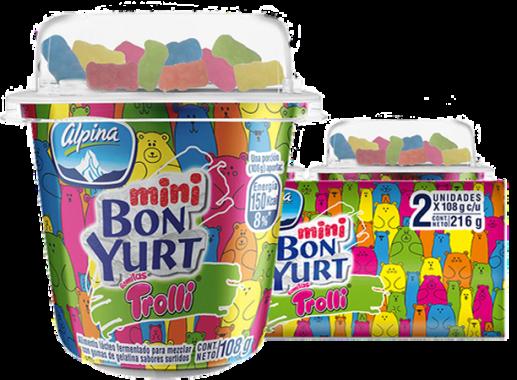 Mini Bonyurt Trolli Paquete X 2 Und X 108gr