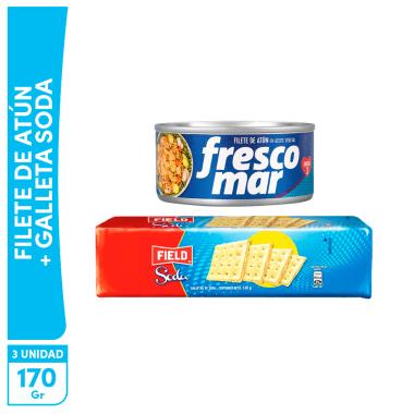 Filete Atún Frescomar x170g + 1 galleta soda gratis
