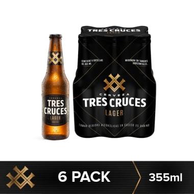 Cerveza Tres Cruces Lager Vidrio 355 ml