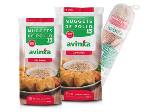 Combo Enrollado de Jamón y Queso + 2 Nuggets de Quinua
