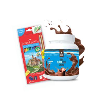 1 Kids Superfood + 1 Caja de Colores Faber Castell