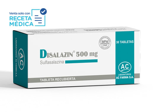 DISALAZIN 500 mg - SULFASALAZINA (Caja x 30 Tabletas)