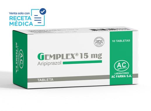 GEMPLEX 15 mg - ARIPIPRAZOL (Caja x 10 Tabletas)