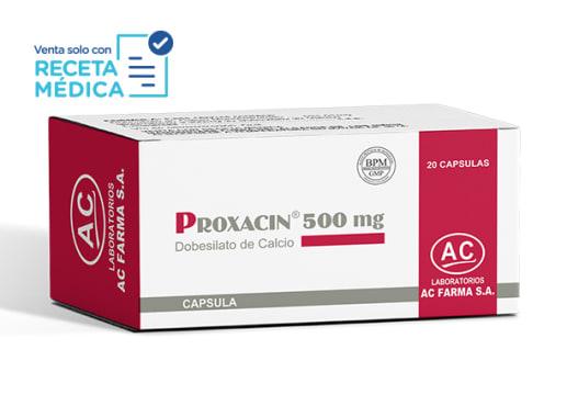 PROXACIN 500 mg - DOBESILATO DE CALCIO (Caja x 20 Cápsulas)