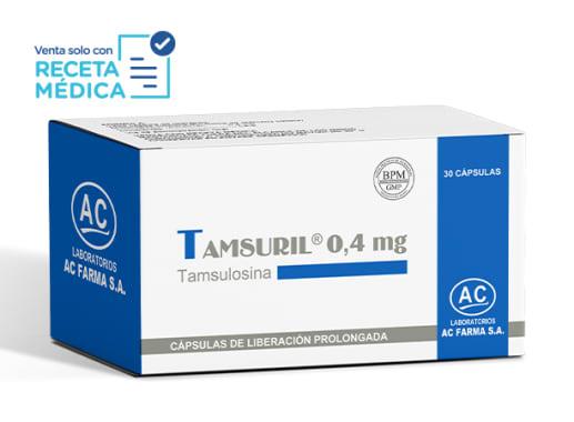 TAMSURIL 0,4 mg - TAMSULOSINA (Caja x 30 Cápsulas)