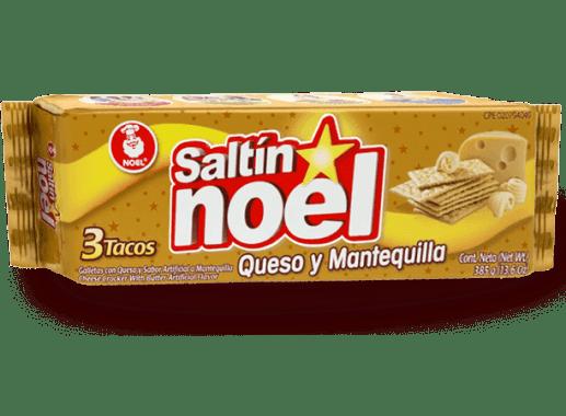 Saltin Noel Queso y Mantequilla Tres Tacos X 385gr
