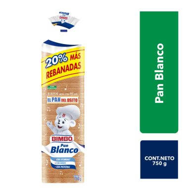 Pan Blanco Familiar Bimbo