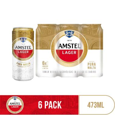Cerveza Amstel Lager 473 ml