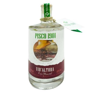 PISCO PURO MOSCATEL VID DE ALTURA 500 ml 1901