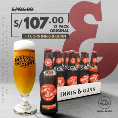 Promo 12 Pack Cerveza Innis & Gunn Original 330 ml + 1 Copa INNIS (DELIVERY GRATIS)