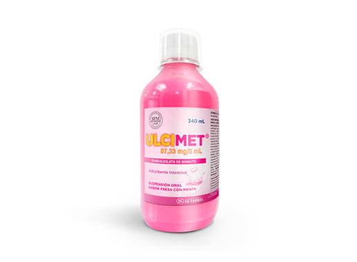 ULCIMET 87.33 mg/5 mL SUSP OR F X340mL - SUBSALICILATO DE BISMUTO ( Caja x 01 Frasco)