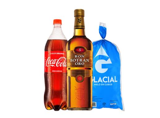 Ron + Coca Cola + Hielo