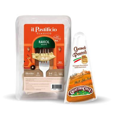RAVIOL DE RICOTTA + QUESO GRANDI PASCOLI