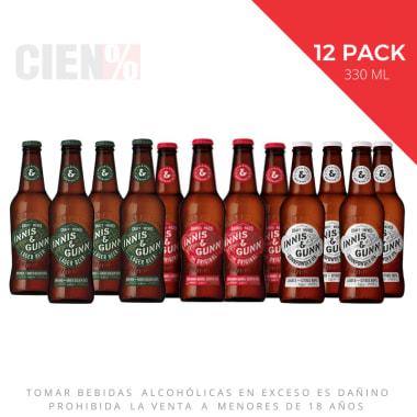Nuevo 12 Pack Cervezas Innis & Gunn Mix Botellas 330 ml