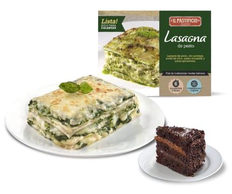 Pastimenú 3 - Lasagna Pesto + Postre