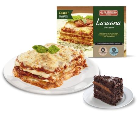 Pastimenú 4 - Lasagna de Carne + Postre