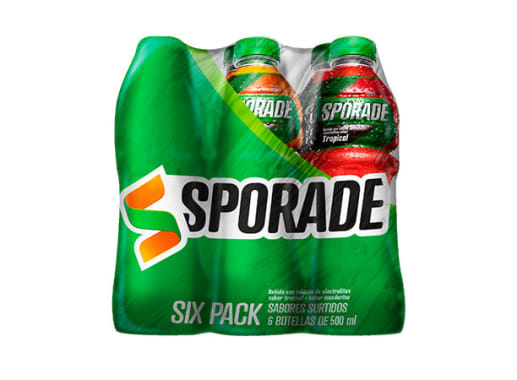 6 pack Sporade Surtido