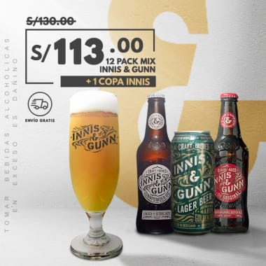 Nuevo 12 Pack Cerveza Innis Mix
